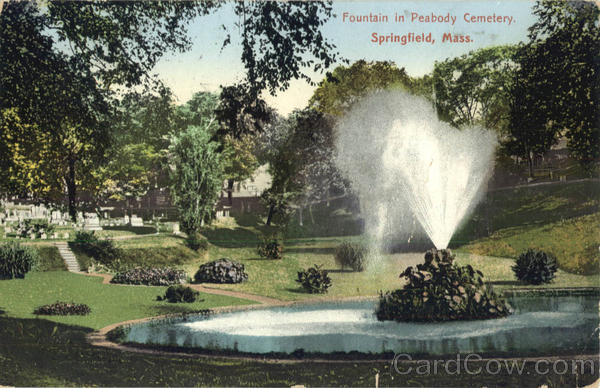Fountain in Peabody Cemetery Springfield Massachusetts