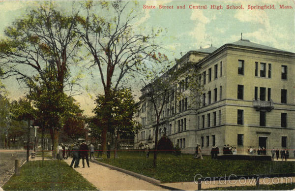State Street and Central High School Springfield Massachusetts