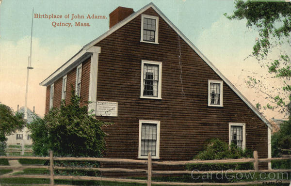 Birthplace of John Adams Quincy Massachusetts