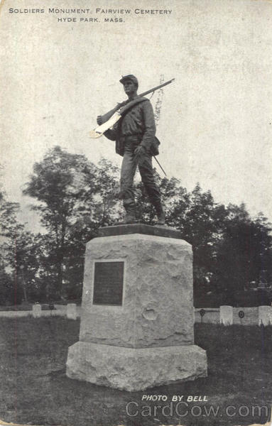 Soldiers Monument, Fairview Cemetery Hyde Park Massachusetts