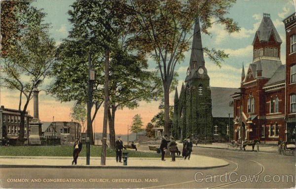 Common and Congregational Church Greenfield Massachusetts