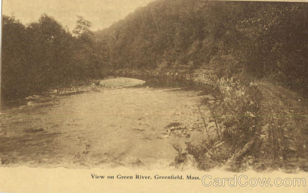 View on Green River Greenfield Massachusetts