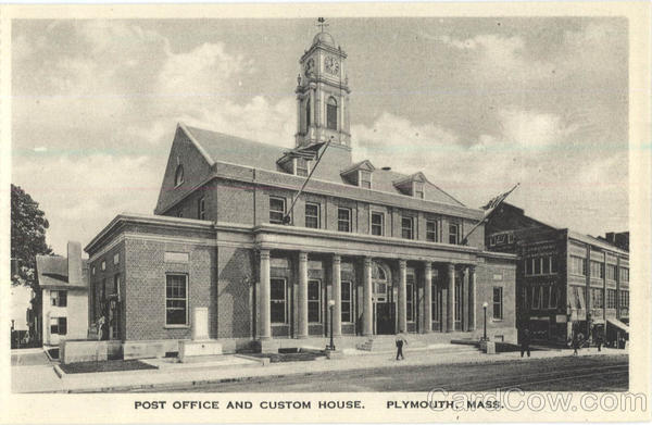 Post Office and Custom House Plymouth Massachusetts