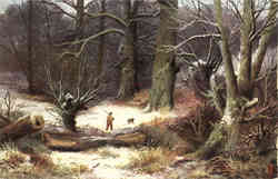 Tuck's Oilette Winter Scenes Hunting