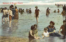 Bathers at Revere Beach Massachusetts
