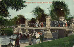 Bridge in Public Garden Postcard