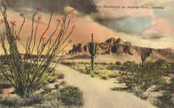 The Mounty Superstition Mountains on Apache Trail