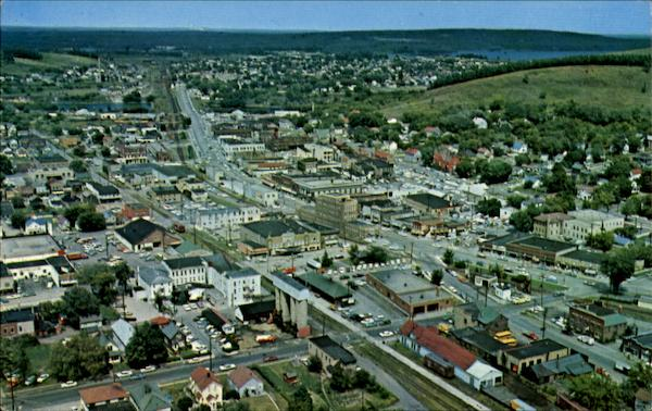 Aerial View Of Stephenson Ave Iron Mountain Michigan