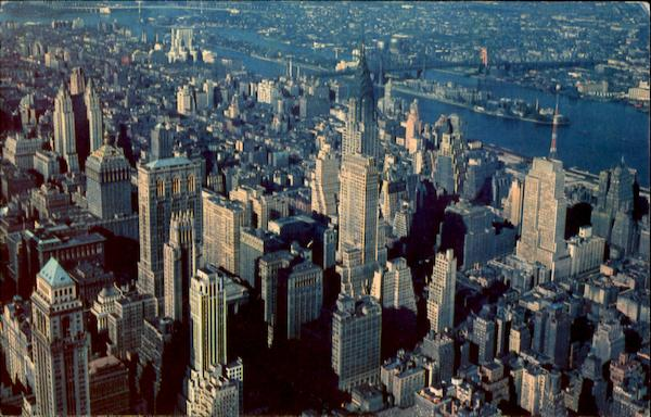 Aerial View Of Midtown Manhattan New York