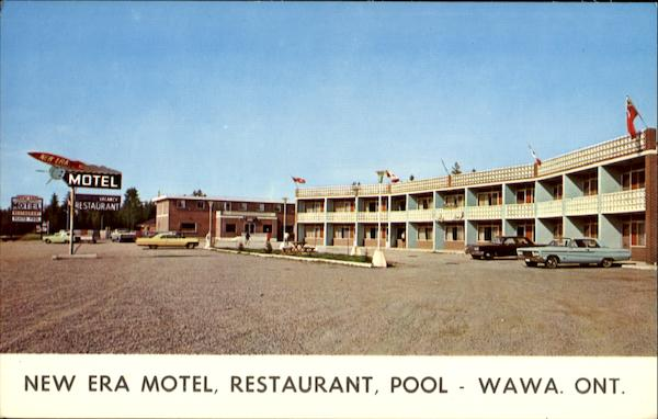 New Era Motel Restaurant Pool Wawa Ontario Canada