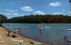 Greetings From East Tawas Postcard