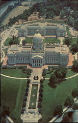 Aerial Of State Capitol And Annex