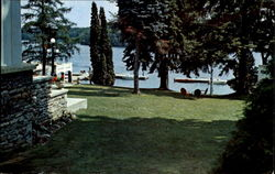 Part Of The Lawns And Docks Elgin House Postcard