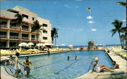 The Breathtaking Chateau Resort Motel, 191st to 193rd St.,  Collins Ave. Postcard