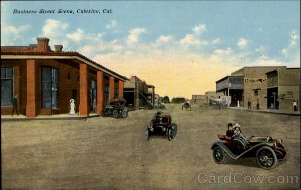 Business Street Scene Postcard