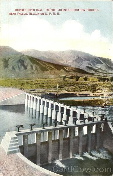 Truckee River Dam, S. P. R. R Fallon Nevada