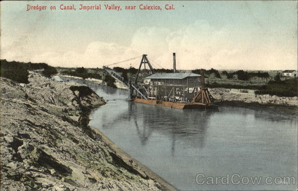 Dredger On Canal, Imperial Valley Calexico California