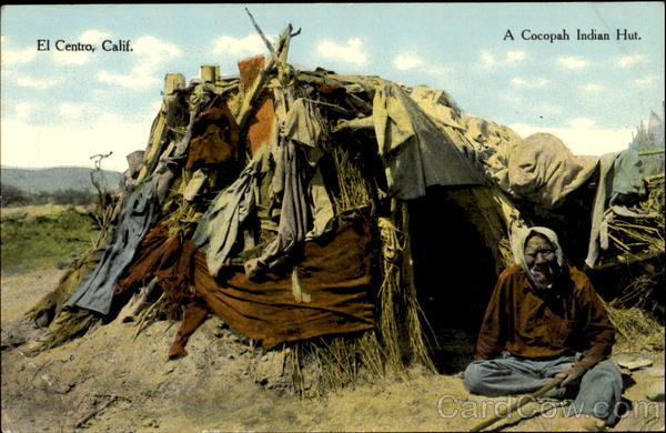 A Cocopah Indian Hut El Centro California