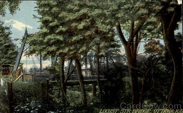 Locust Str Bridge Ottawa Kansas