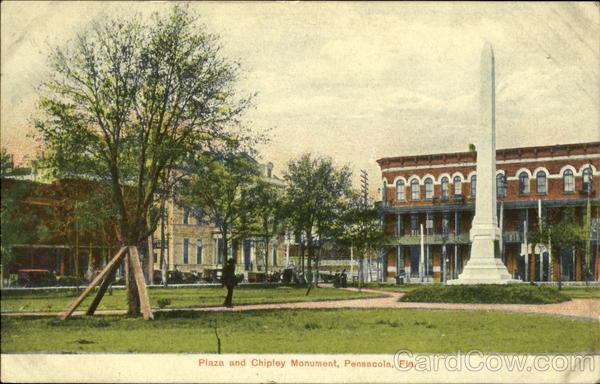 Plaza And Chipley Monument Pensacola Florida