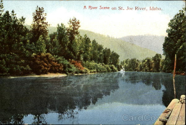A River Scene On St. Joe River Scenic Idaho