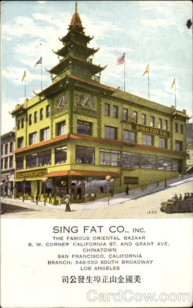 Sing Fat Co., Inc.,, Grant Ave San Francisco California