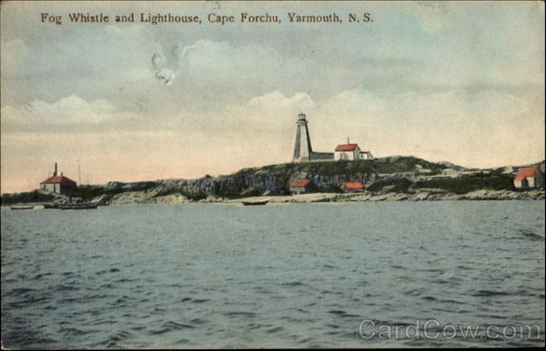 Fog Whistle And Lighthouse, Cape Forchu Yarmouth Canada