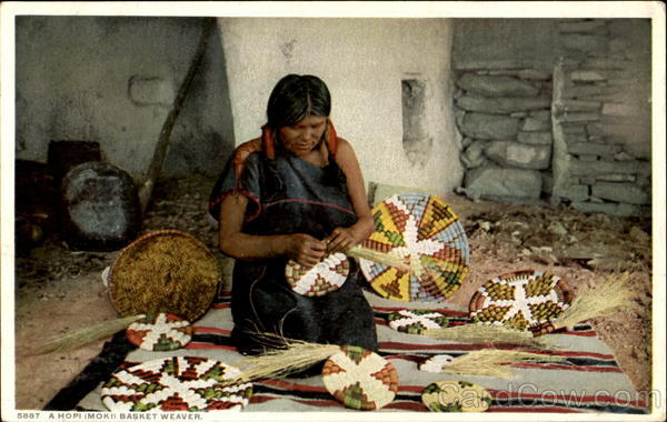 A Hopi Basket Weaver Native Americana