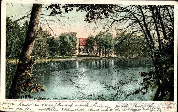 The Chapel From Across The Lake, Vassar College Poughkeepsie New York