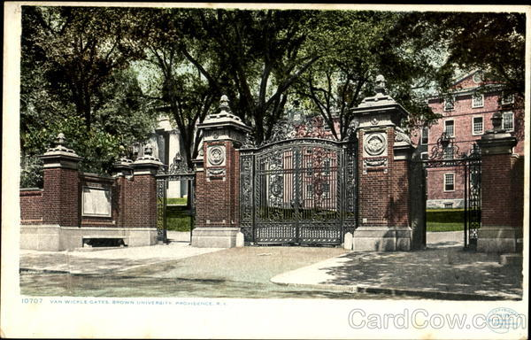 Van Wickle Gates, Brown University Providence Rhode Island