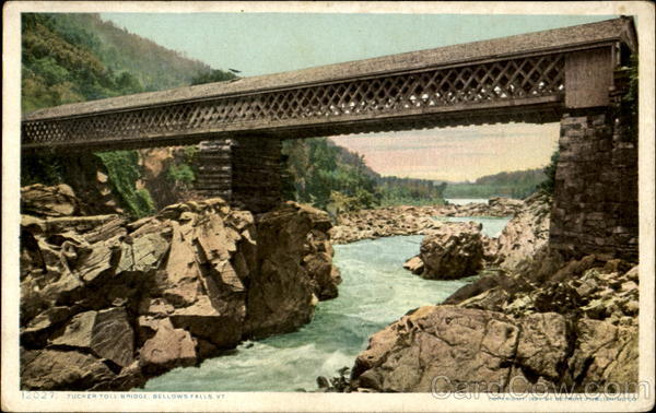 Tucker Toll Bridge Bellows Falls Vermont