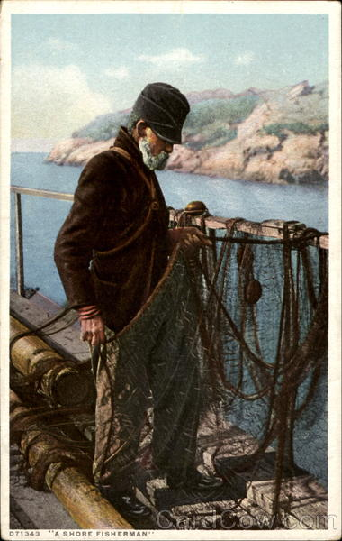 A Shore Fisherman Fishing