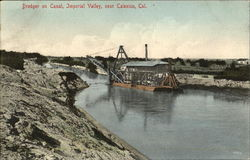 Dredger On Canal, Imperial Valley