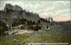 Big Saddle Butte Postcard