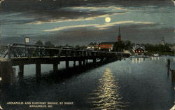 Annapolis And Eastport Bridge By Night