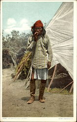 An Apache Chief In Camp