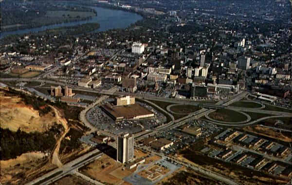 Aerial View Of The City Of Chattanooga Tennessee