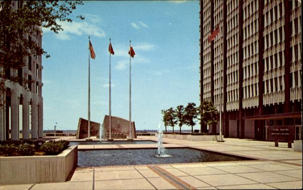 Plaza Of New Federal Building Memphis Tennessee