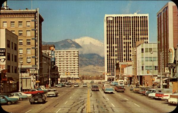 Pikes Peak Avenue And Stone Center Colorado Springs
