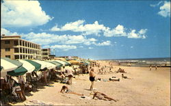 Beach Scene At Ocean City