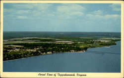 Aerial View Of Tappahannock Postcard