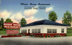 Manor House Restaurant, U. S. Route 301 Postcard