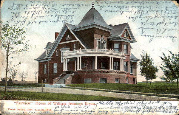 Fairview Home Of William Jennings Bryan Lincoln Nebraska