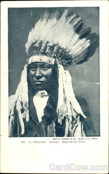 Cheyenne Indian Chief Rain-in-the-Face Native Americana