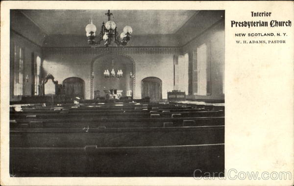 Interior Presbyterian Church New Scotland New York