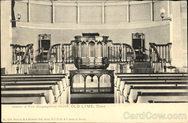 Interior Of First Congregational Church Old Lyme Connecticut