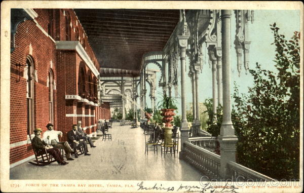 Porch Of The Tampa Bay Hotel Florida