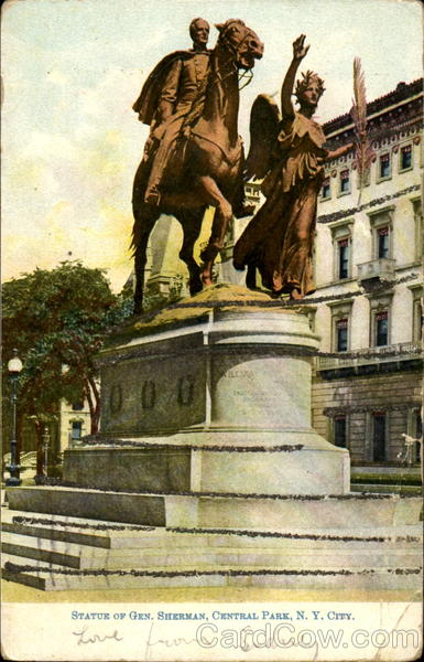 Statue Of Gen. Sherman, Central Park New York City