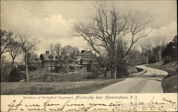 Residence Of Rutherfurd Stuyvesant Hackettstown New Jersey