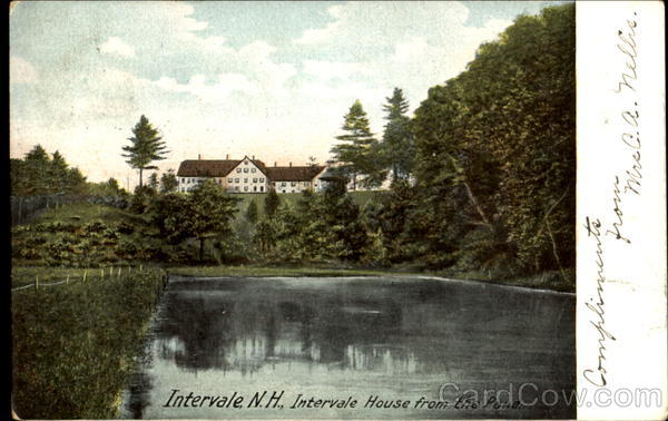 Intervale House From The Pond Inervale New Hampshire
